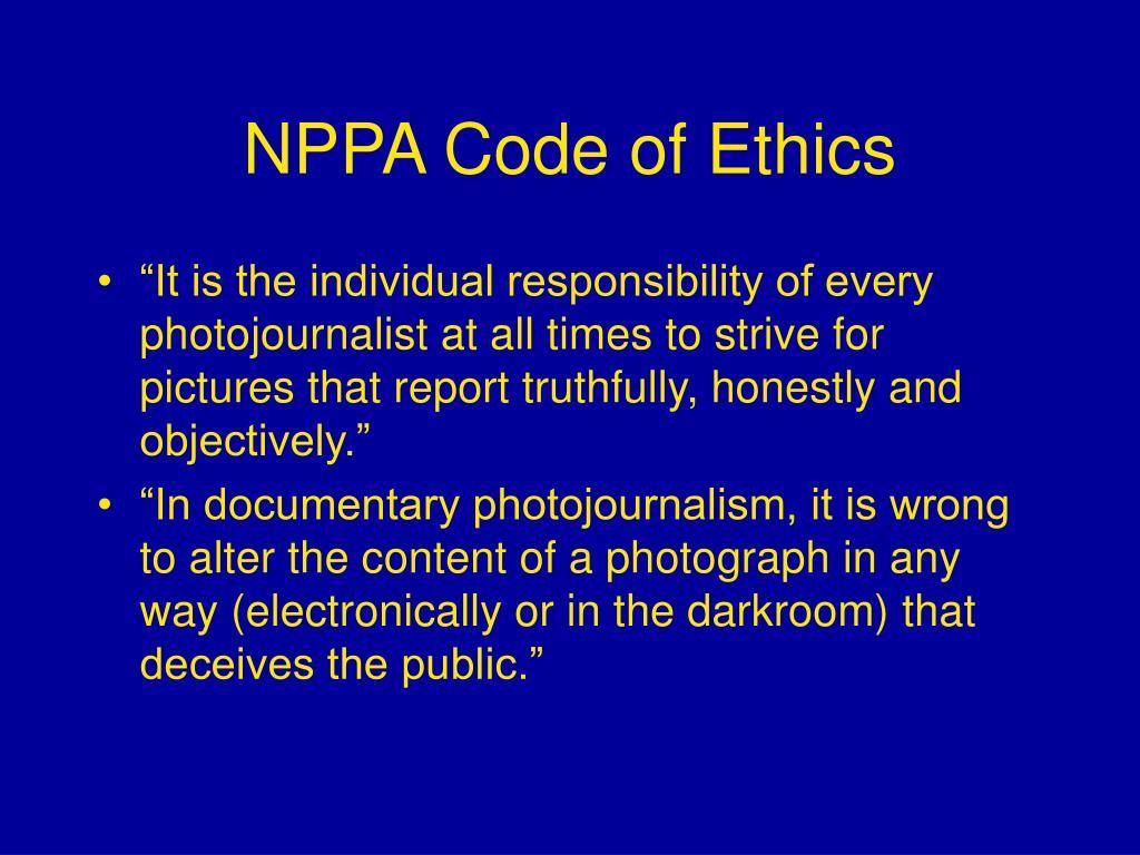 photojournalism code of ethics pdf