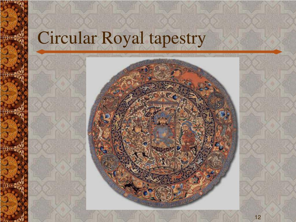 Circular Royal tapestry