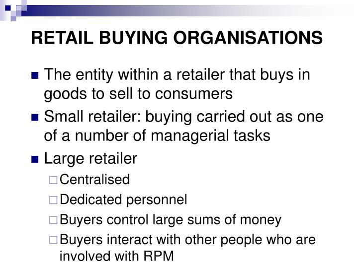 Retail buying organisations
