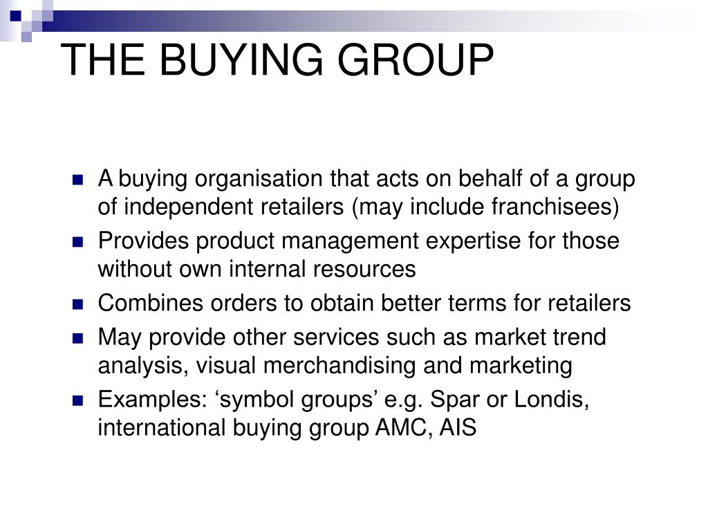 THE BUYING GROUP