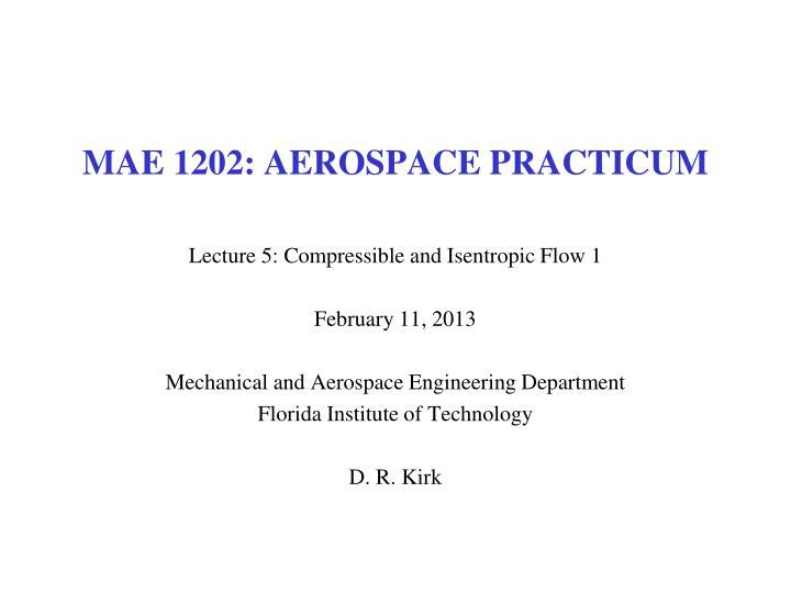Mae 1202 aerospace practicum