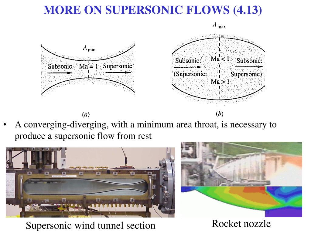 MORE ON SUPERSONIC FLOWS (4.13)