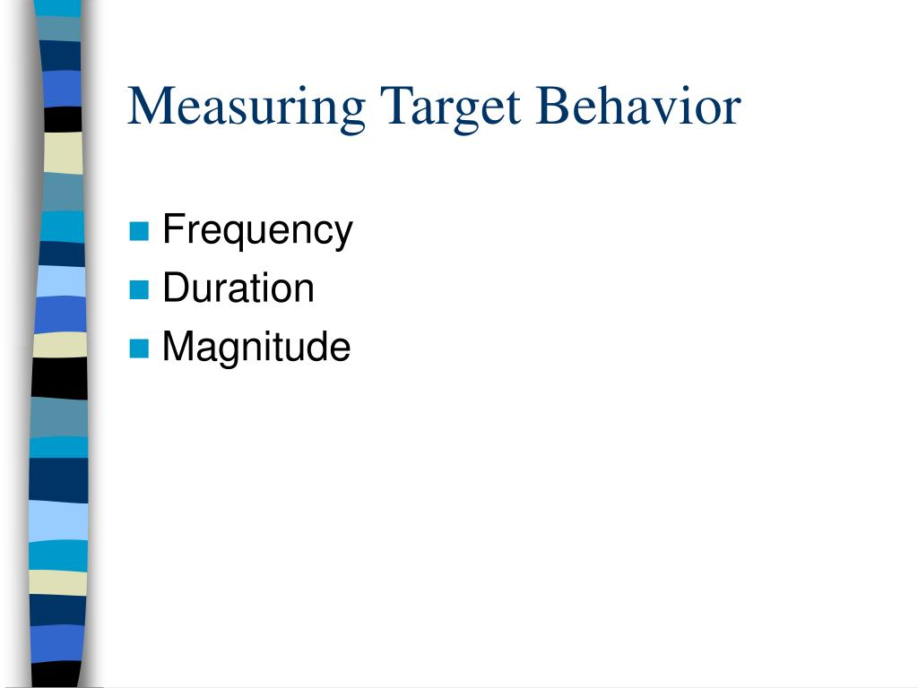 Measuring Target Behavior