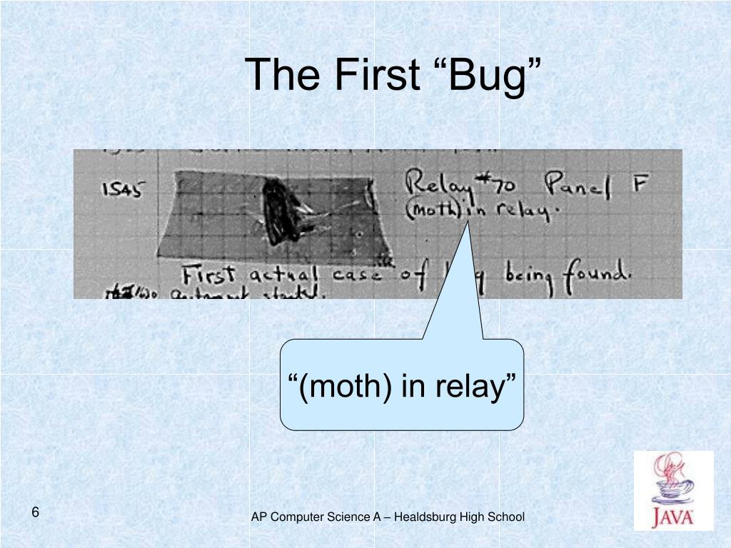 """The First """"Bug"""""""