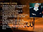 humble living