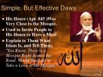 simple but effective dawa