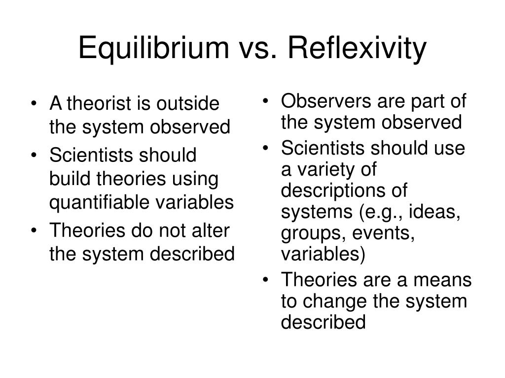 A theorist is outside the system observed