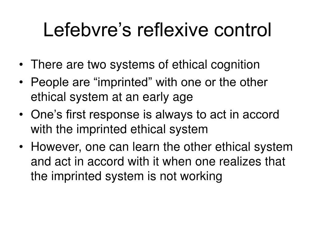 Lefebvre's reflexive control