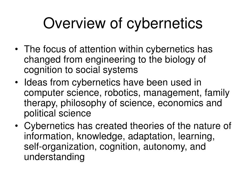 Overview of cybernetics