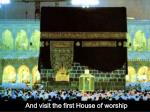 and visit the first house of worship