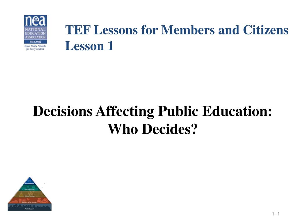 TEF Lessons for Members and Citizens