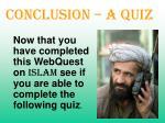 conclusion a quiz