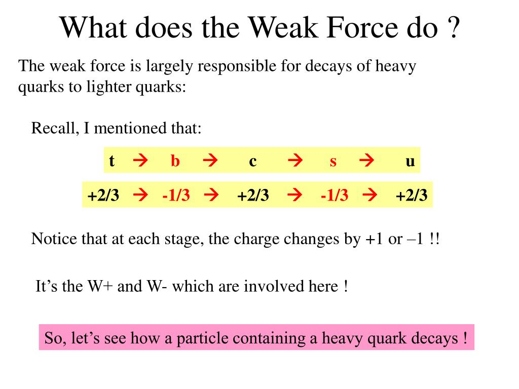 What does the Weak Force do ?