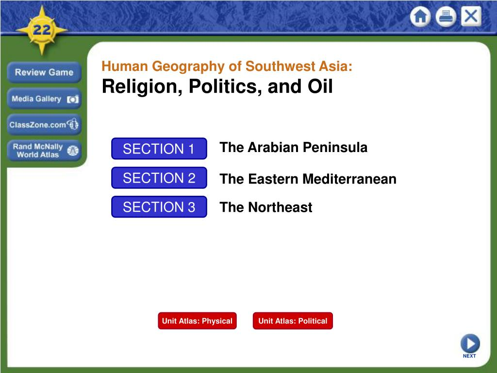 Human Geography of Southwest Asia: