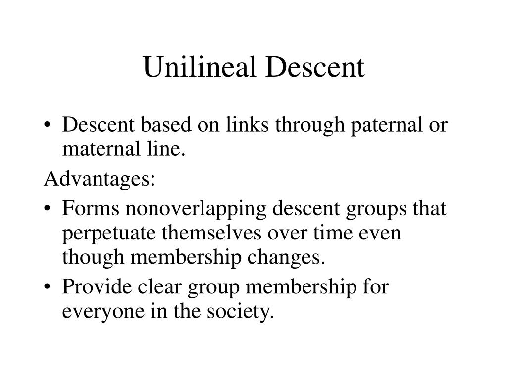 Unilineal Descent