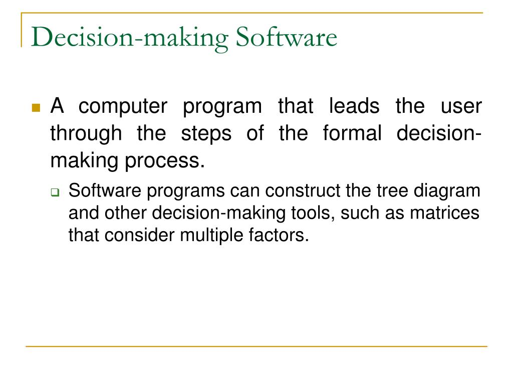 Decision-making Software