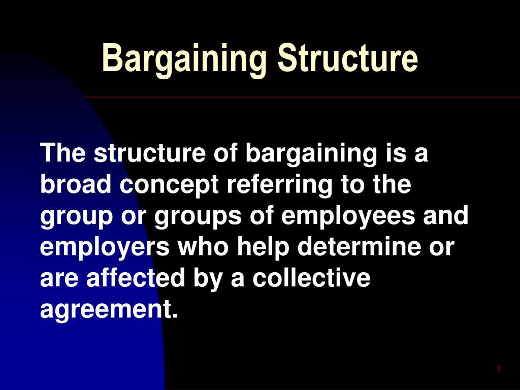 bargaining structure l.