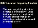 determinants of bargaining structure