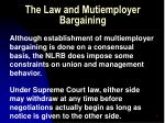 the law and mutiemployer bargaining