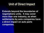 unit of direct impact
