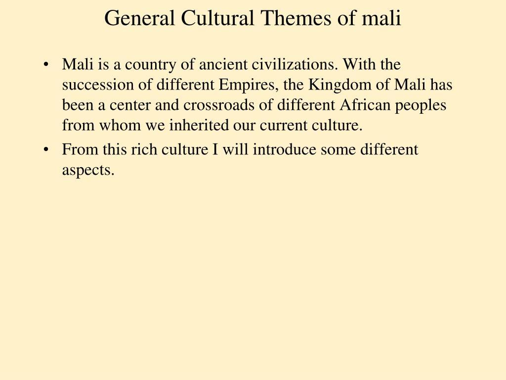 general cultural themes of mali l.