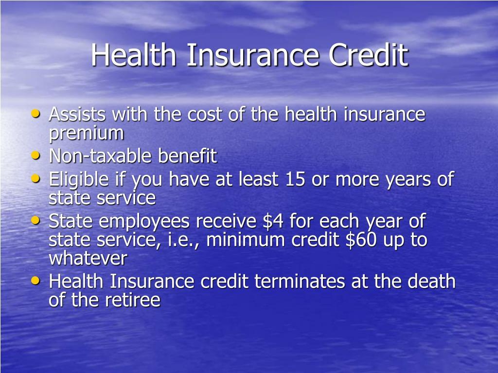 Health Insurance Credit