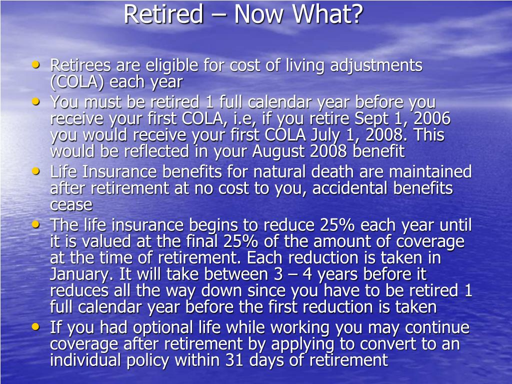 Retired – Now What?