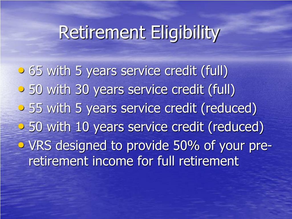 Retirement Eligibility