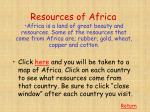 resources of africa