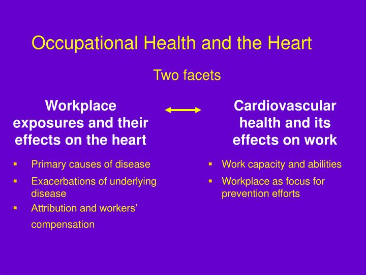 Occupational health and the heart2