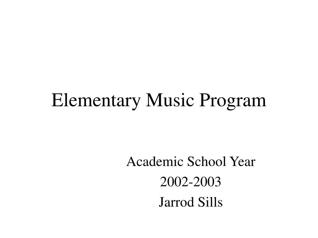 elementary music program l.