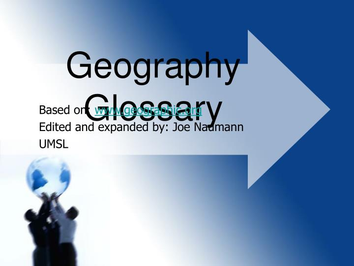 geography glossary n.