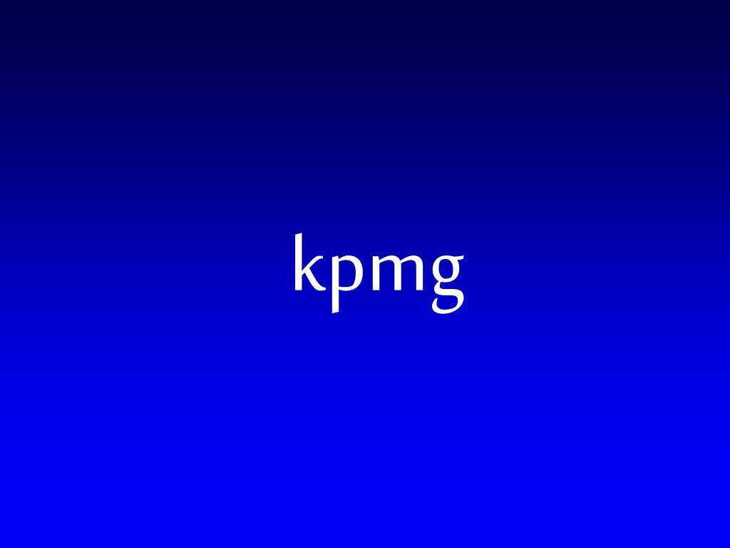 PPT - kpmg PowerPoint Presentation - ID:243504