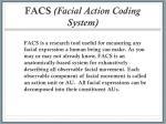 facs facial action coding system