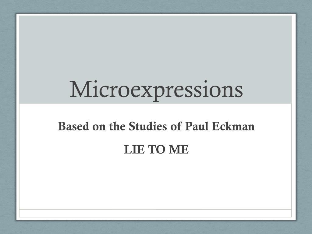 microexpressions l.