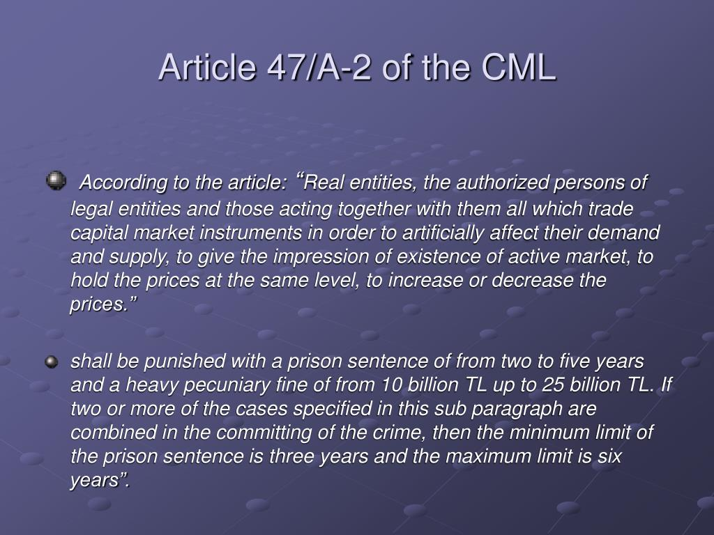 Article 47/A-2 of the CML