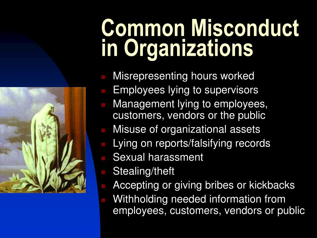 Common Misconduct in Organizations