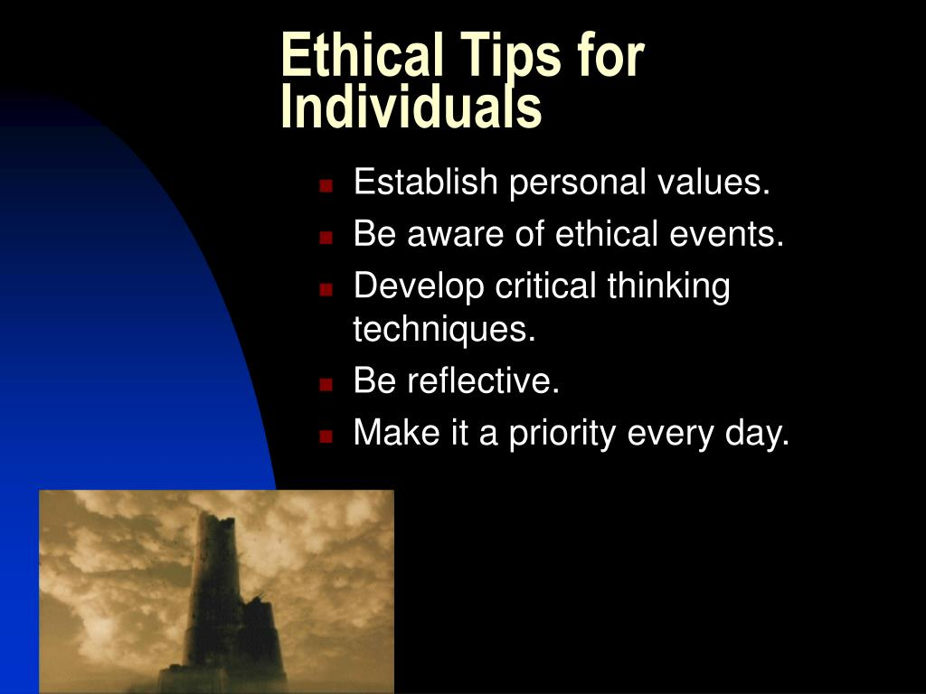 Ethical Tips for Individuals