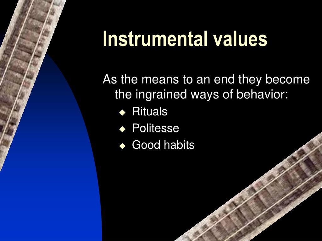 Instrumental values