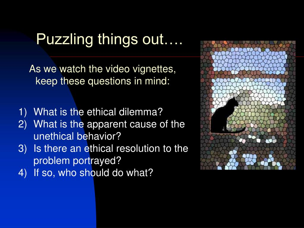 Puzzling things out….