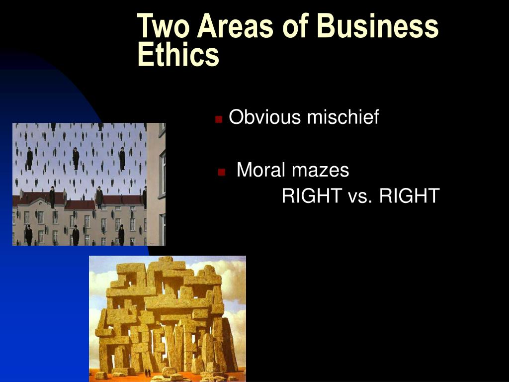 Two Areas of Business Ethics