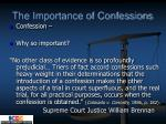 the importance of confessions