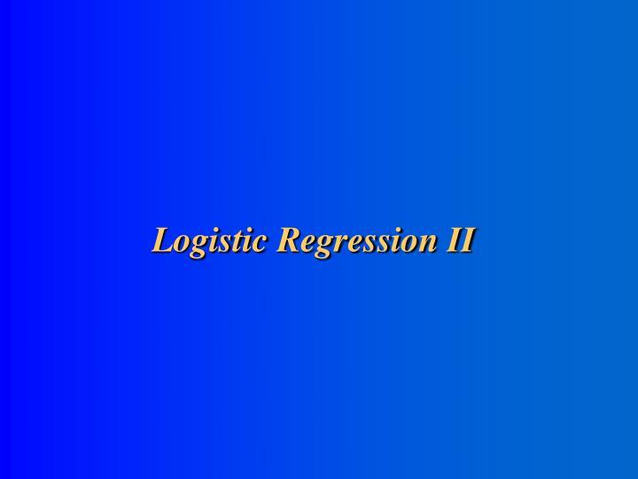 logistic regression ii n.