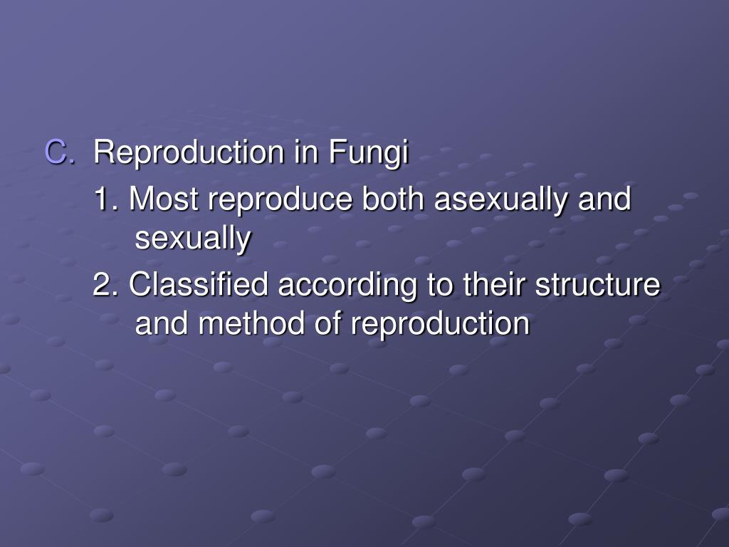 Reproduction in Fungi