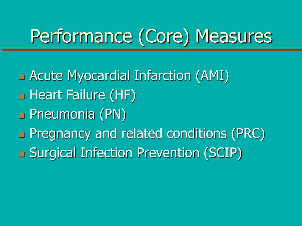 Performance (Core) Measures