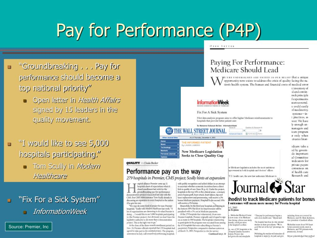 Pay for Performance (P4P)