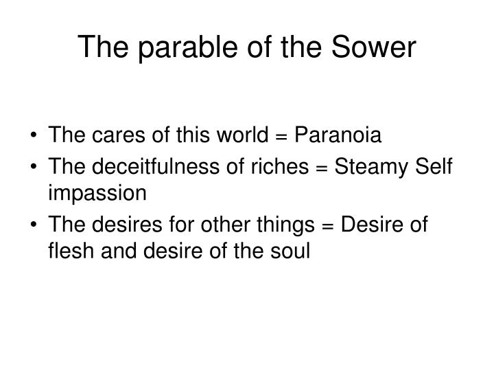 The parable of the sower3