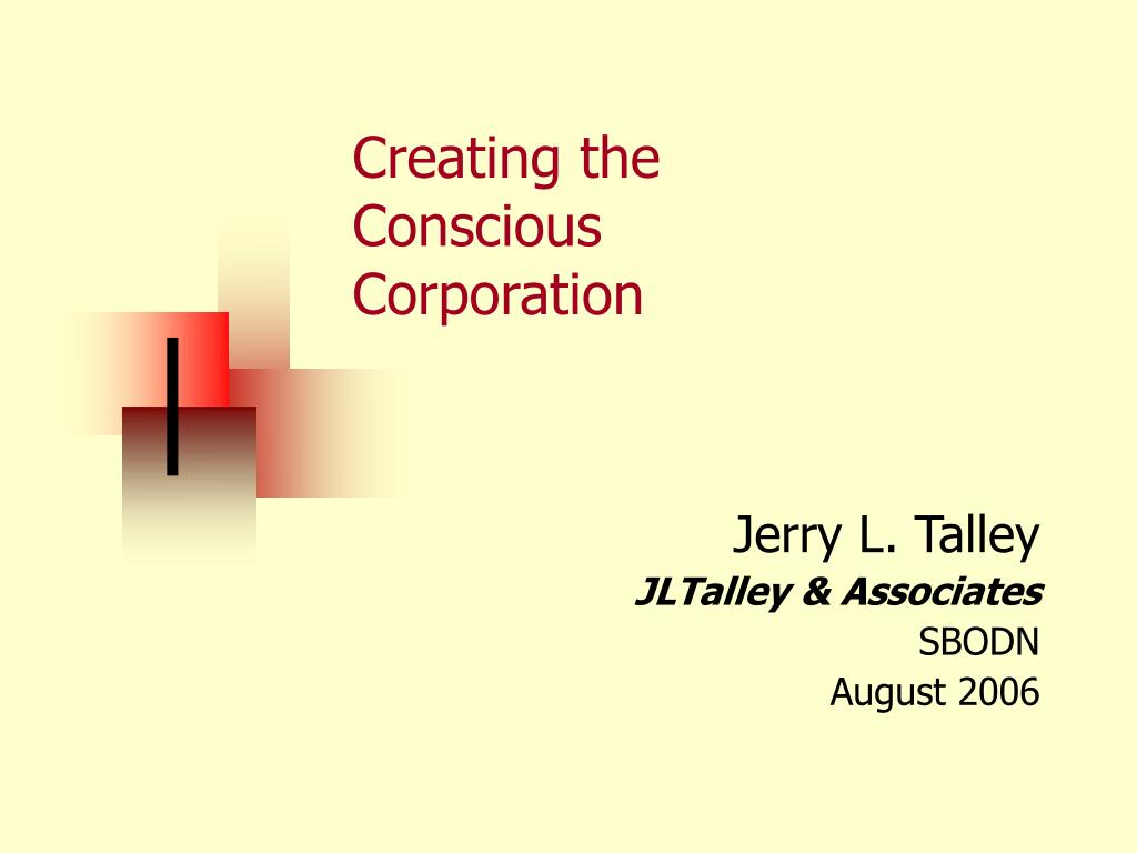 creating the conscious corporation l.