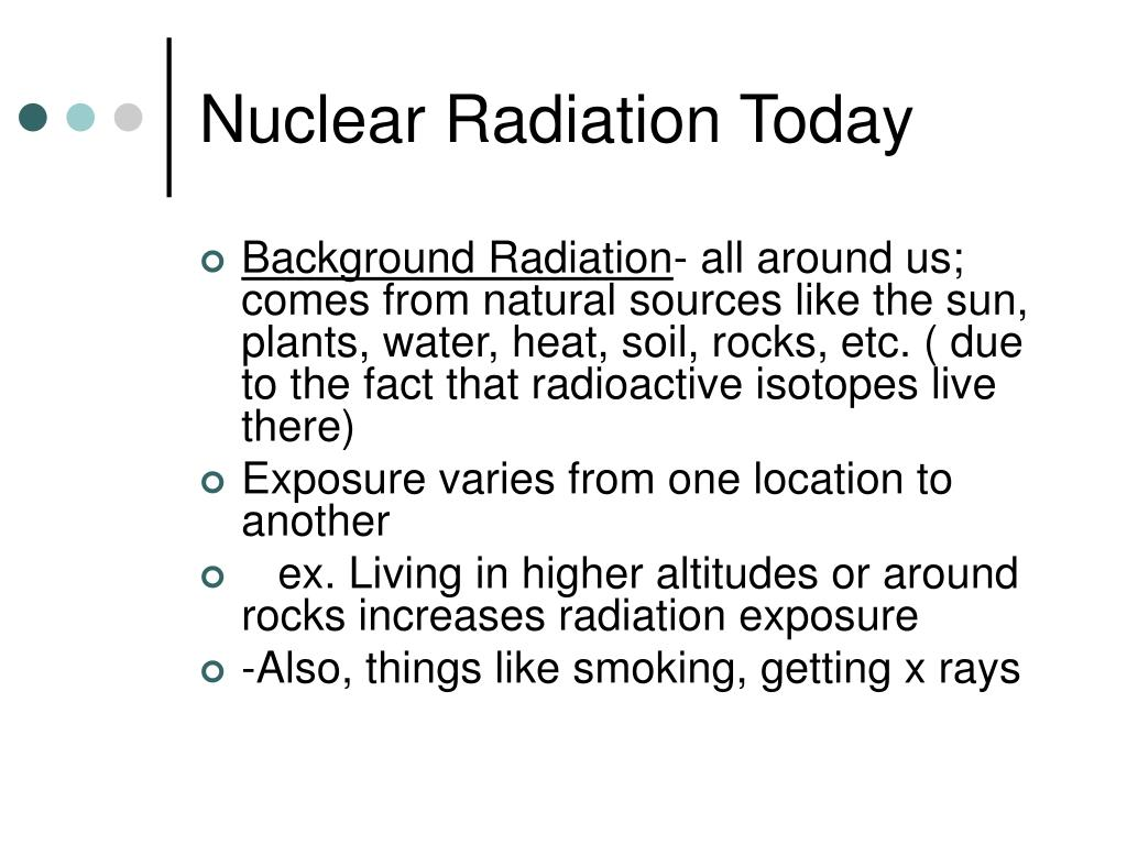 Nuclear Radiation Today