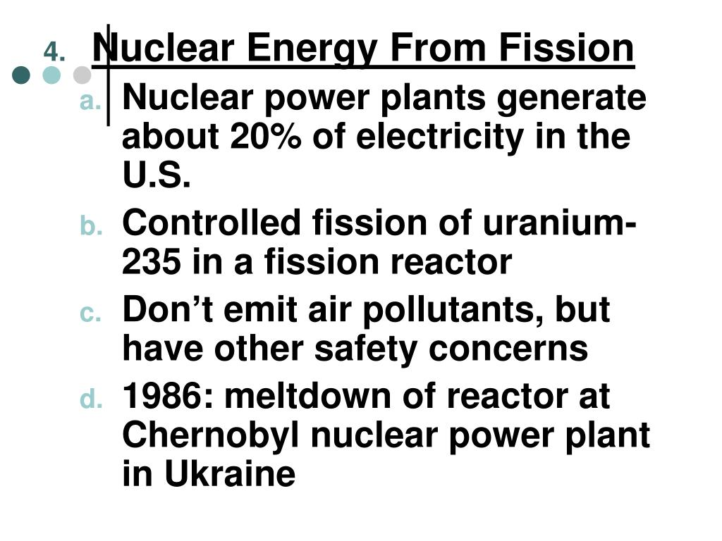 Nuclear Energy From Fission